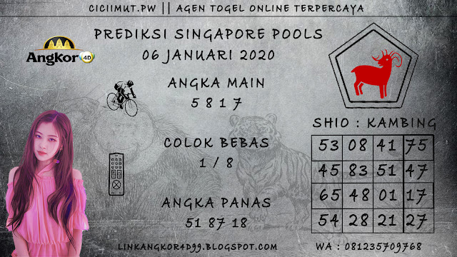 PREDIKSI SINGAPORE POOLS 06 JANUARI 2020