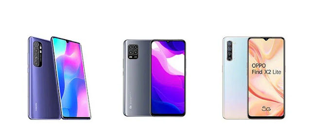Perbandingan Xiaomi Mi Note 10 Lite, Xiaomi Mi 10 Lite vs OPPO Find X2 Lite