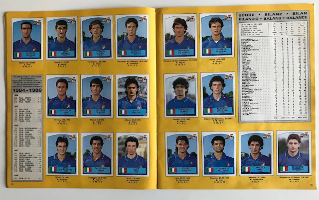 Figurine nazionale italiana Euro 88