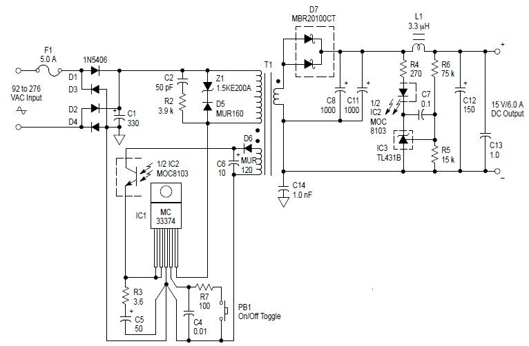Ac To Dc 90w Switching Adaptor Power Audio Wiring Diagram
