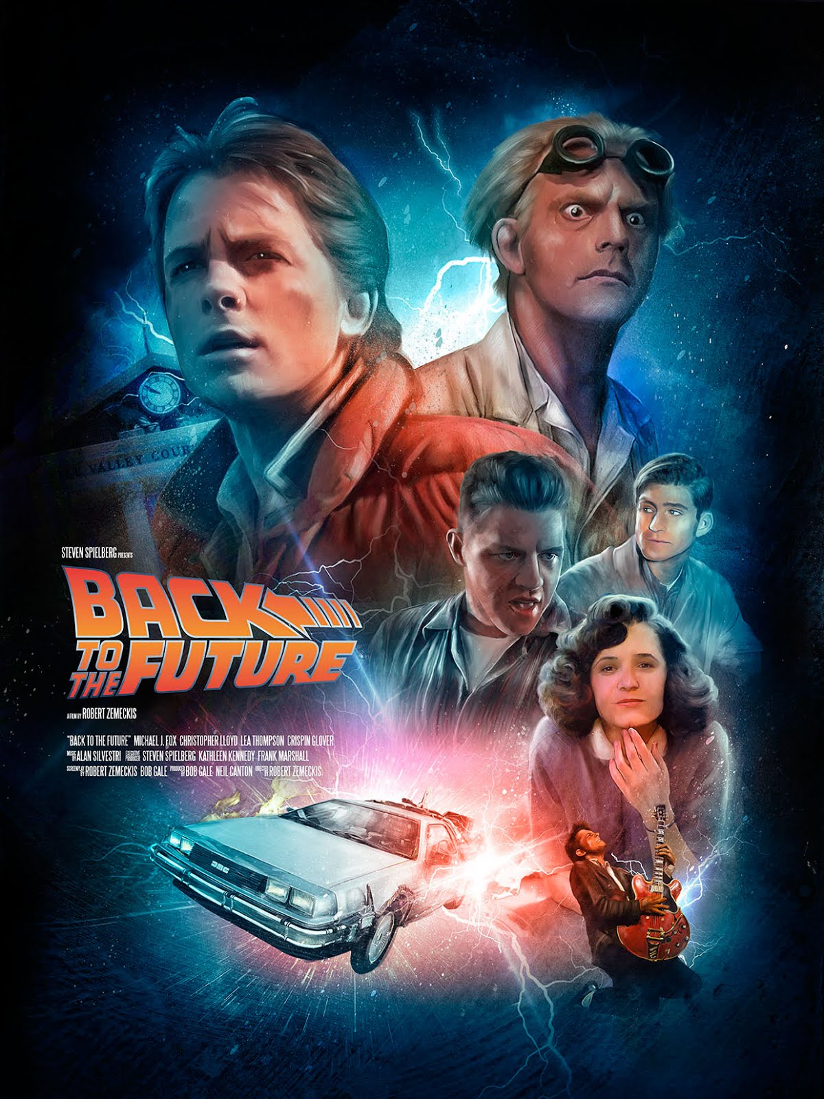 the geeky nerfherder coolart back to the future by