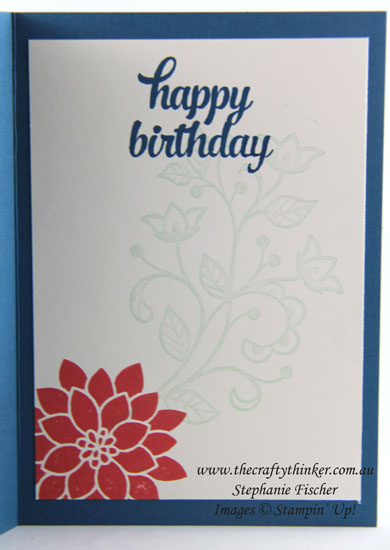 Flourishing Phrases, Flourish Thinlits, Floral Card, #thecraftythinker, Stampin Up Australia Distributor, Stephanie Fischer, Sydney NSW