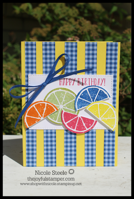 Stampin' Up!'s Lemon Zest birthday card | by Nicole Steele The Joyful Stamper