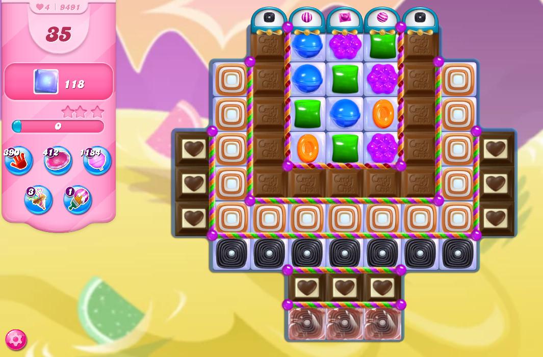 Candy Crush Saga level 9491
