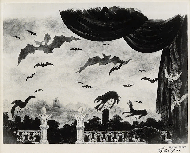 Attempted Edward Gorey' Grand Curtain Dracula