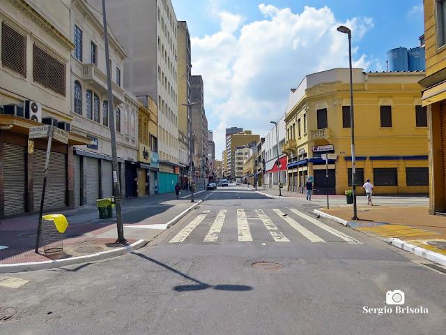 Rua 25 de Março durante a quarentena