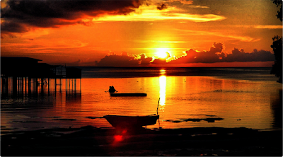 Pesona sunset danau sentarum