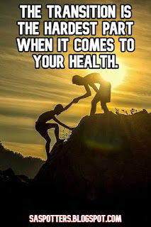 The transition is the hardest part when it comes to your health.