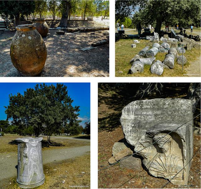 Peças escavadas no Sítio Arqueológico de Troia, Turquia