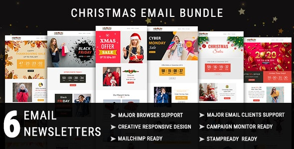 6in1 Multipurpose Responsive Email Newsletter Templates