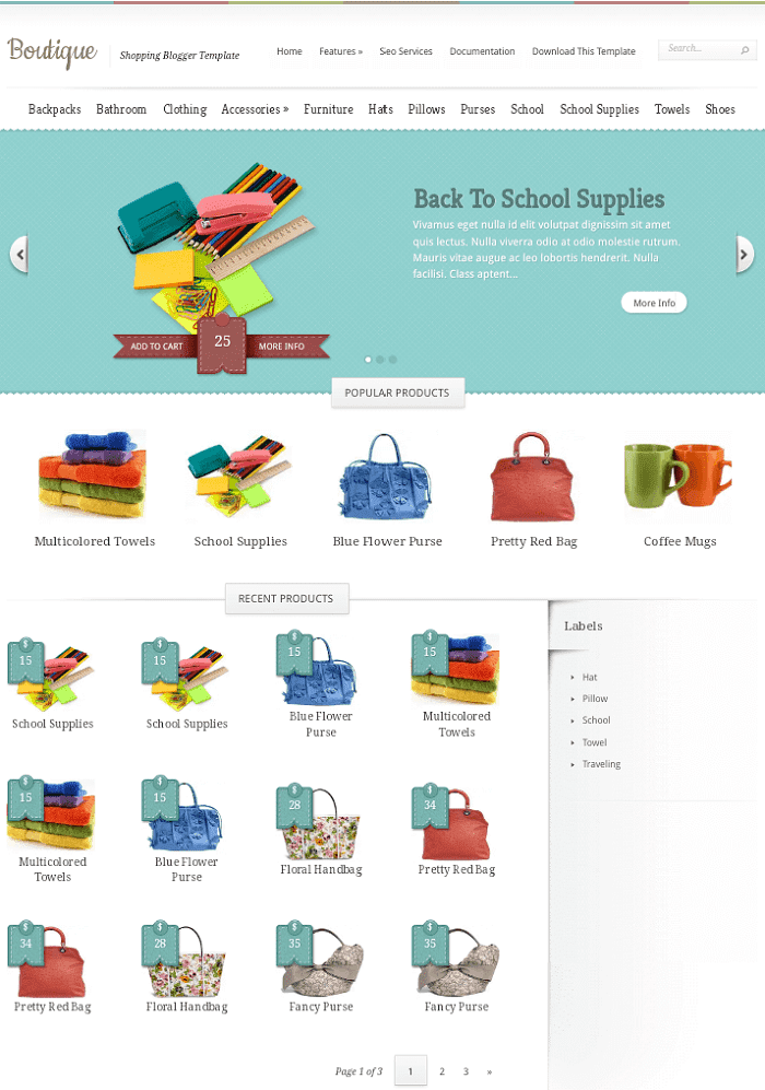 Boutique eCommerce Blogger Template