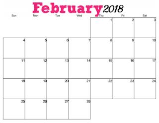 free printable 2018 horizontal calendar