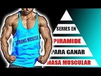 ganar masa muscular y promover una buena hipertrofia muscular es utilizar la serie piramidal en tu rutina de entrenamiento, para lograr una buen resultado y evitar estancamientos