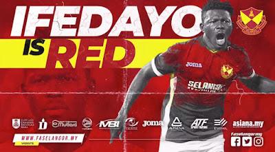 SAH ! Ifedayo Olusegun Pemain Selangor Yang Baru