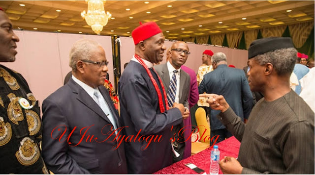 Igbo quit notice: Yemi Osinbajo in a closed-door meeting with South East traditional rulers