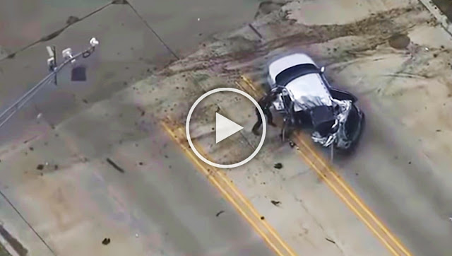 Камера засне зрелищна катастрофа след полицейска гонка (ВИДЕО)