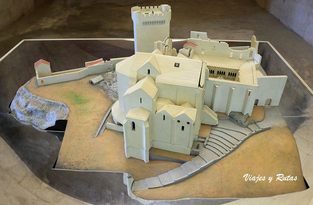 Maqueta de la Abadía de Montmajour