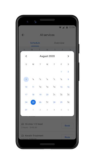 Ein Smartphone mit Kalender-Ansicht
