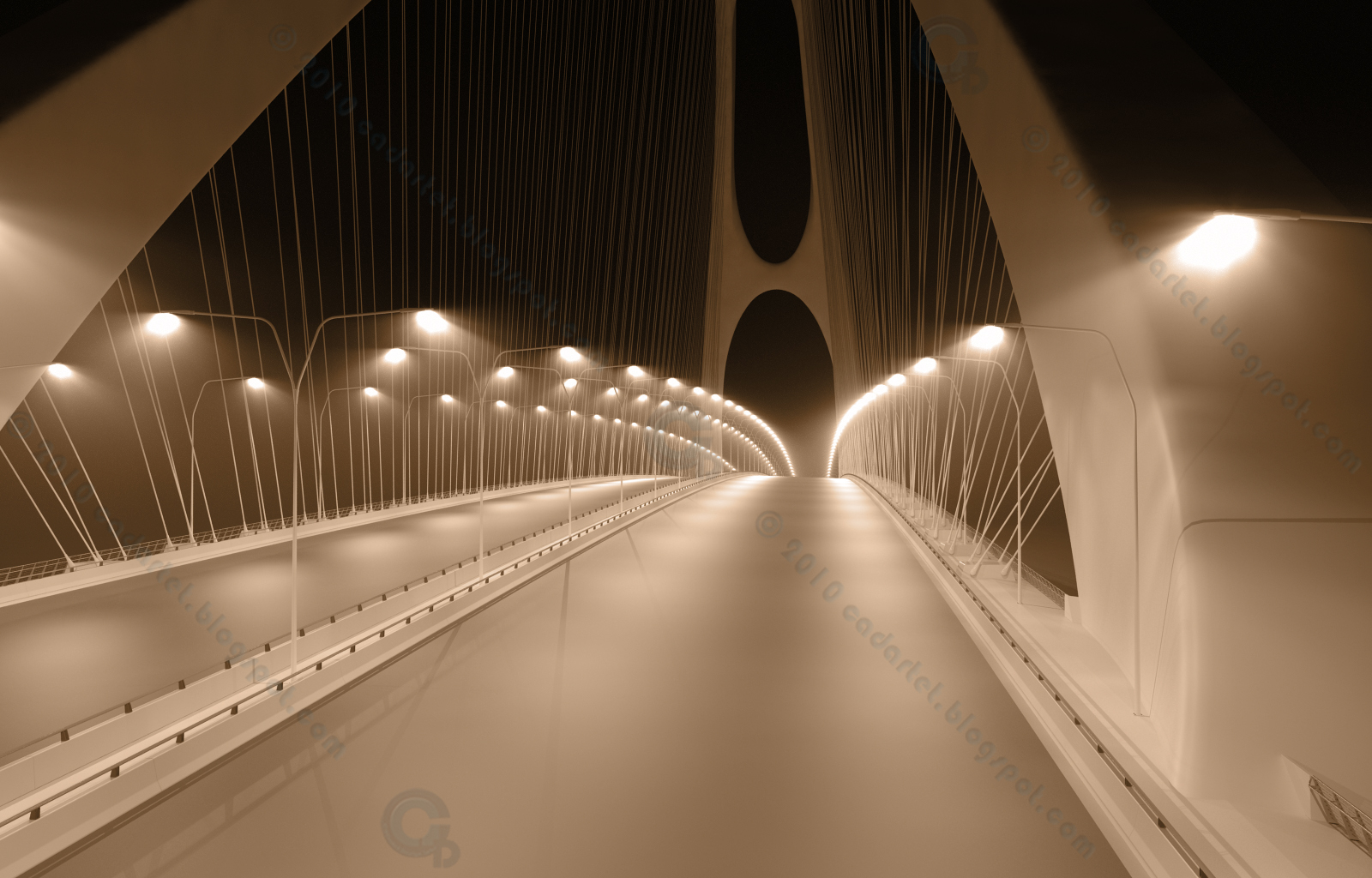 cadartet boomerang bridge 3d model vray volume lights 3dsmax