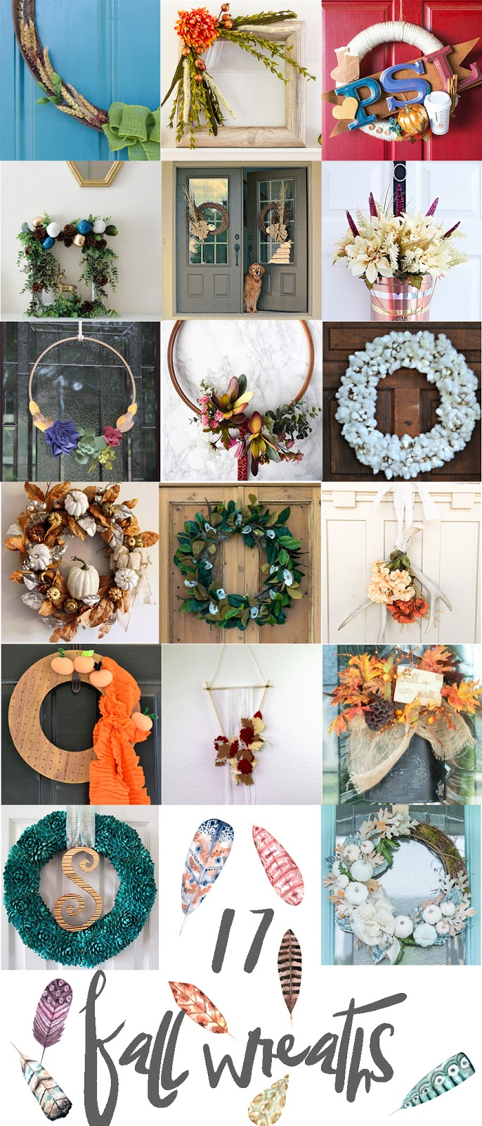 Fall wreath blog hop- lots of great DIY tutorials!