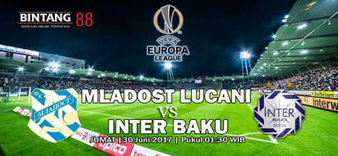 Prediksi Bola Mladost Lucani vs Inter Baku 30 Juni 2017
