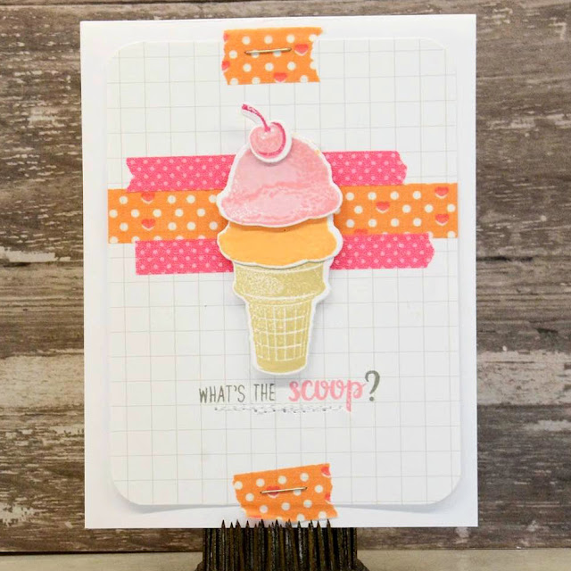 Sunny Studio Stamps: Two Scoops Ice Cream card by Laurel Seabrook