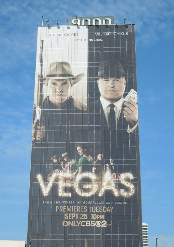 Giant Vegas TV billboard