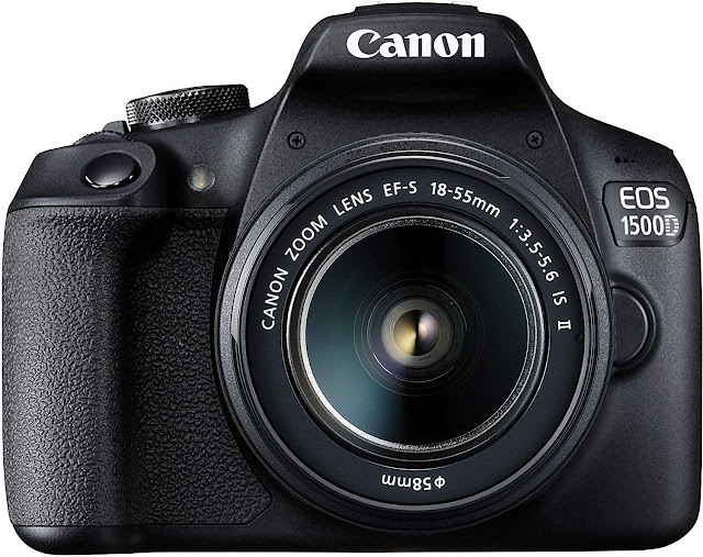 Canon EOS 1500D Digital SLR Camera (Black) with EF S18-55 is II Lens/Camera Case
