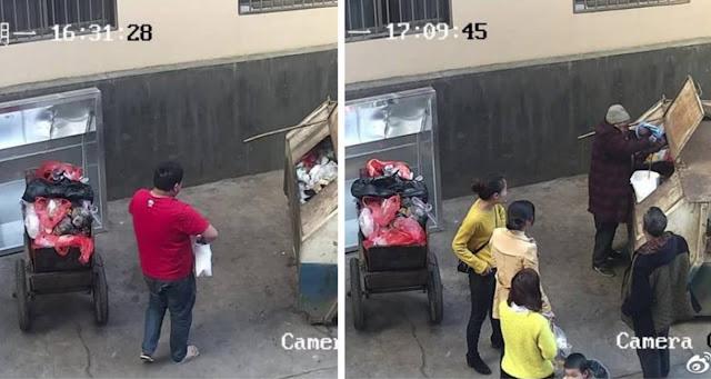 Мужчина бросил свою новорожденную дочь в контейнер для мусора