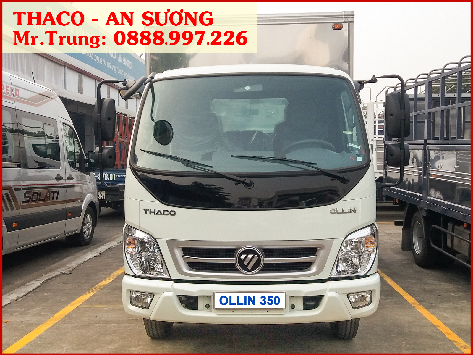 Xe tải Thaco Ollin 350 thùng kín, tải trọng 2.150 kg, giá xe tải OLLIN 350