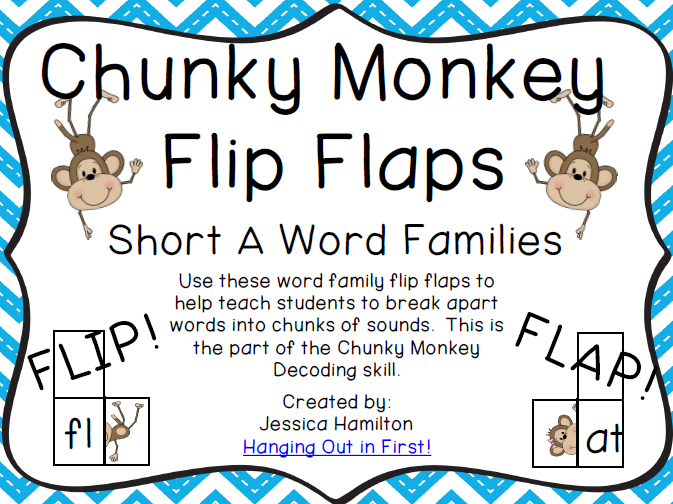 http://www.teacherspayteachers.com/Product/Chunky-Monkey-Flip-Flaps-Short-A-Word-Families-1113251