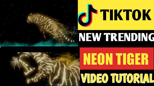 How To Create Tiktok Neon Tiger Name Video