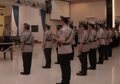 TR Kapolri: Empat Perwira Jajaran Polda Kepri Terima Alih Tugas