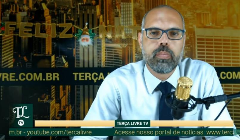 Periodista brasileño Allan dos Santos del portal Terça Livre / CAPTURA PANTALLA