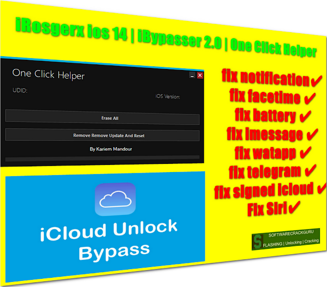 Bypass iCloud ios 14.0.1 iPhone SE Succesfull by tools iRosgerx ios 14 | iBypasser 2.0 | One Click Helper