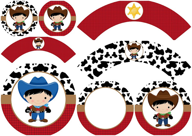 Cowboy Babies:  Free Printable Wrappers and Toppers.