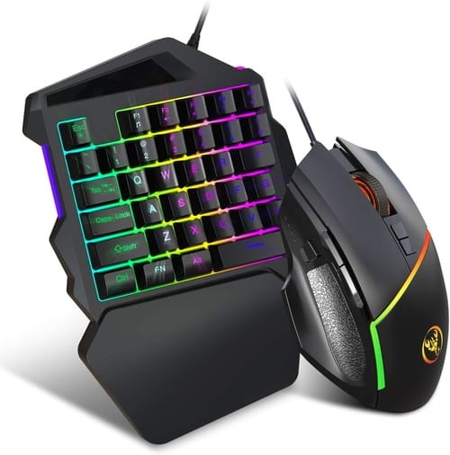 Review MoModer RGB One-Handed Gaming Keyboard and Mouse