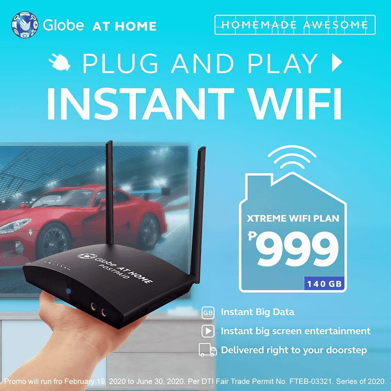 Globe At Home outs Xtreme WiFi Plan 999 with 140GB open data and more!