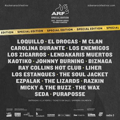 Azkena Rock, Vitoria, Loquillo, lendakaris muertos, Los Enemigos, El Drogas, Carolina Durante, Burning, Los Zigarros, M Clan