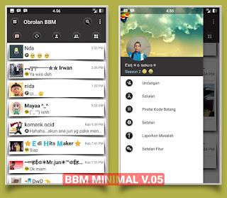 BBM Minimal V.05 - Based V3.1.0.13 Apk