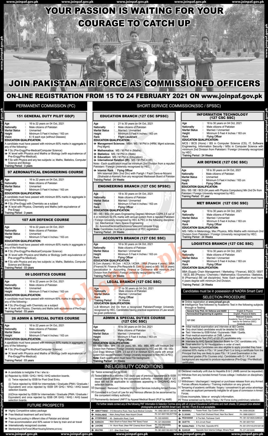 Latest PAF as Commissioned Officer Jobs 2021