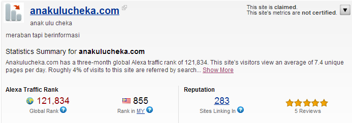 alexa Statistik Blog AUC Bulan September 2012