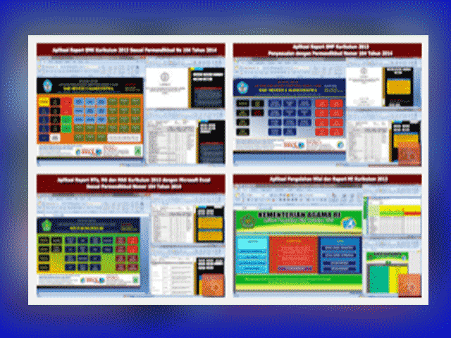 Aplikasi Raport Kurikulum 2013 dan KTSP SD/MI, SMP/MTs,SMA/MA,SMK/MK