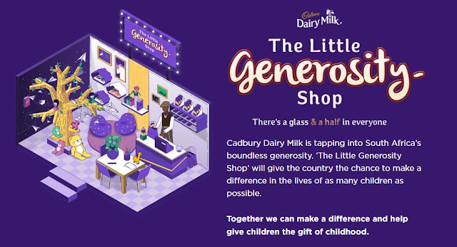 @Cadbury_SA Dairy Milk Sparks Selfless Giving Through '#TheLittleGenerosityShop' #GlassAndAHalf