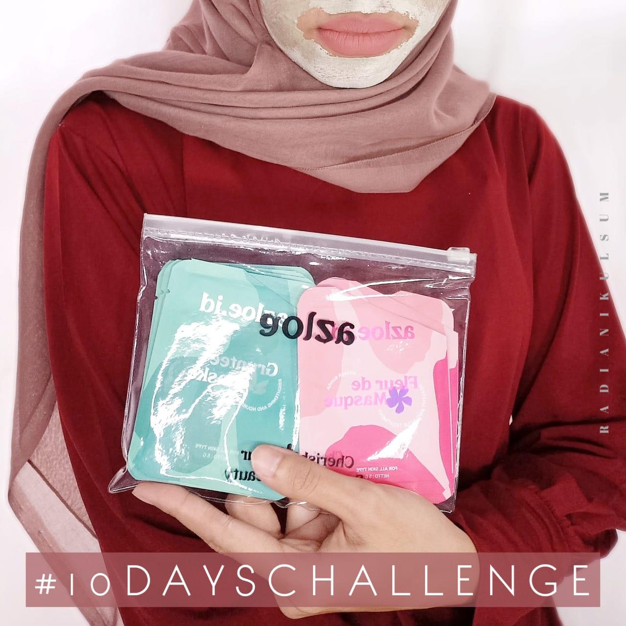 10 Days Challenge Azloe Fleur de Masque & Gruntee Maske