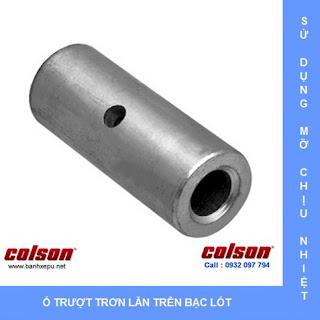 Bánh xe đẩy hàng chịu nhiệt 230 độ Colson có khóa | 2-4646-53HT-BRK4 www.banhxeday.xyz
