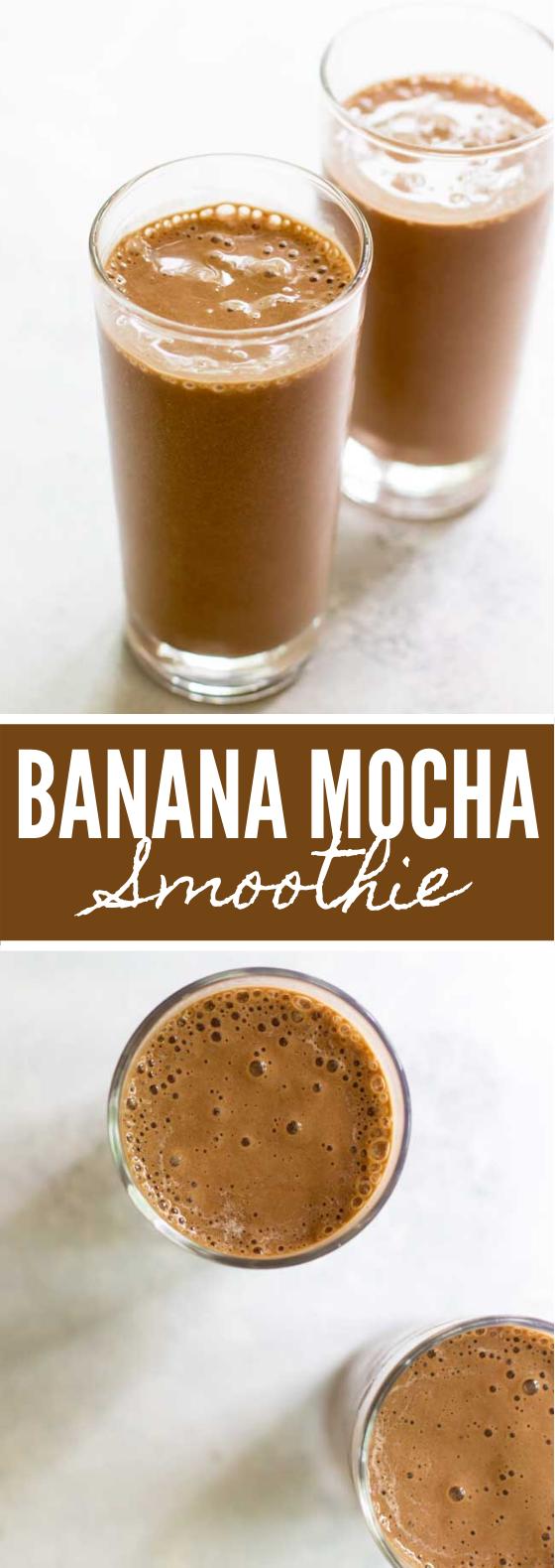 4-INGREDIENT BANANA MOCHA SMOOTHIE #drinks #sweets