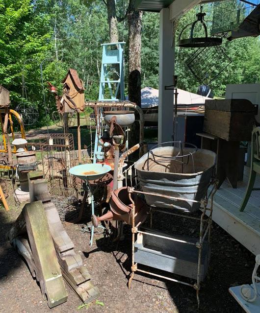 Photo of summer junk garden inventory West Tischer Cottage