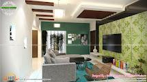 Tv Room Living Bedroom Kitchen Interior - Kerala Home