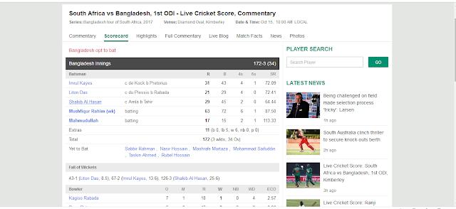 Sa vs Bn Odi cricket update - FPI News Portal